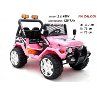 Otroški Jeep Raptor (roza)