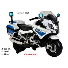 Otroški policijski motor BMW 45W (moder)