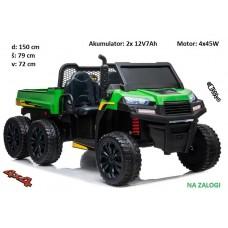 Otroški traktor Farmer 24V (zeleno črn)