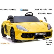 športni avto na akumulator YSA021A 24V 180W (LAK rumen, moder ali rdeč)