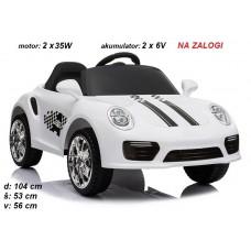 Otroški avto na akumulator Basic (bel)